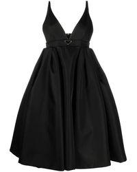 Prada Sleeveless Full Midi Dress - Black