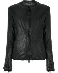 Giorgio Brato - Collarless Zip-up Jacket - Lyst