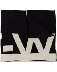 Off-White c/o Virgil Abloh Black And White Wool Scarf