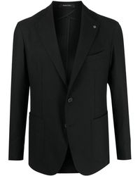 Tagliatore Black Single Breasted Blazer