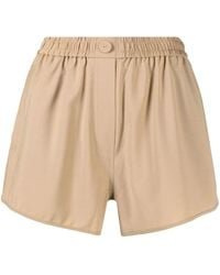 Camilla & Marc Beige High-waisted Stretch Shorts - Natural