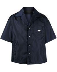 Prada Navy Loose-fit Bowling Shirt - Blue