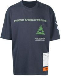 Heron Preston Hp X Ministry Of Defence Rhino T-shirt - Blue