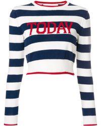Alberta Ferretti - Today Stripe Cropped Sweater - Lyst