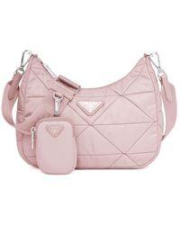 Prada Pink Re-nylon Padded Hobo Bag