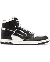 Amiri Black And White Skel Hi-top Sneakers