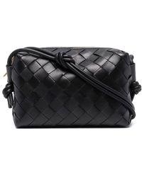 Bottega Veneta Black Loop Intrecciato Leather Cross-body Mini Bag