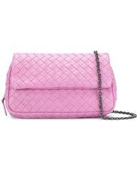 Bottega Veneta - Intrecciato Mini Messenger Bag - Lyst