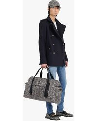 Balmain Blue Wool Military Pea Coat With Double-breasted Silver-tone Buttoned Fastening