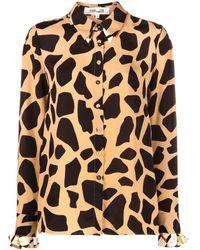 Diane von Furstenberg Camicia con stampa animalier - Multicolore
