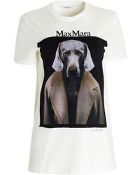 Max Mara T-shirt Dogstar in cotone bianco