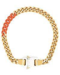1017 ALYX 9SM Coloured Links Mini Cubix Chain Necklace - Metallic