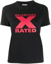 Balenciaga X-rated T-shirt - Black