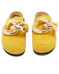 JW Anderson Chain Loafer Yellow Mules