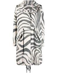 Moncler Coats White - Multicolour