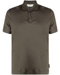 Z Zegna Brown Polo Shirt
