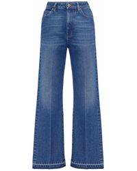 Valentino Blue Denim Jeans With Vlogo Pocket Flap