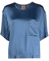 Nude Blue Chest Pocket T-shirt
