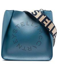 Stella McCartney Borsa con Logo Stella blu