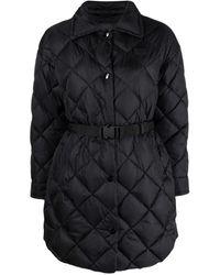 Duvetica Quilted Down Belted Coat - Black