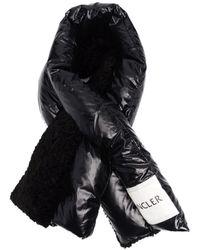 Moncler Black Padded Scarf