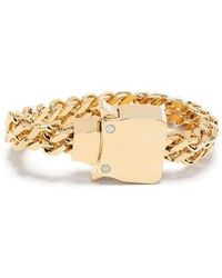1017 ALYX 9SM Mini Cubix Double Chain Bracelet - Metallic