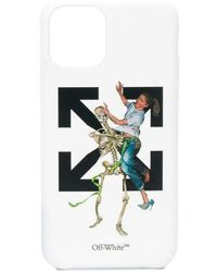 Off-White c/o Virgil Abloh Arrow And Skeleton-print Iphone 11 Pro Max Phone Case - White