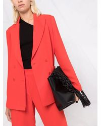 P.A.R.O.S.H. Red Double Breasted Tailored Blazer