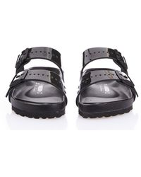 Rick Owens X Birkenstock Black Arizona Iridescent Sandals