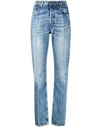 Maison Margiela Seam-detail High-rise Jeans - Blue