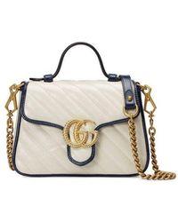 Gucci Mini borsa a mano GG Marmont - Bianco