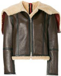 CALVIN KLEIN 205W39NYC - Zipped Shearling Jacket - Lyst