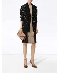 Burberry Monogram Black Wool Cashmere Blend Oversized Cardigan