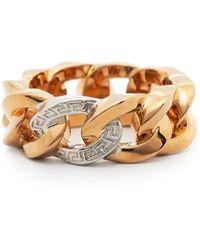 Versace Anello Medusa Chain dorato - Metallizzato
