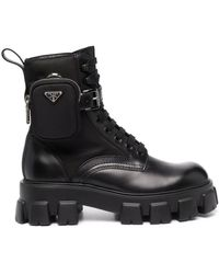 Prada Black Monolith Ankle Boots