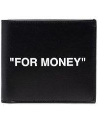 Off-White c/o Virgil Abloh Black For Money Wallet