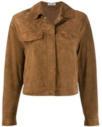 P.A.R.O.S.H. Jacket With Fringes - Brown