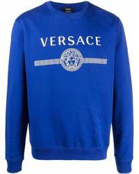 Versace Logo-print Sweatshirt - Blue