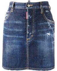 DSquared² Denim Mini Skirt - Blue