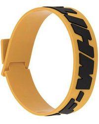Off-White c/o Virgil Abloh Yellow Rubber 2.0 Industrial Bracelet