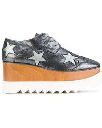 Stella McCartney - Elyse Star Platform Lace-up Shoes - Lyst