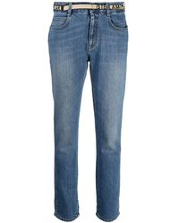Stella McCartney Logo Band Slim Jeans - Blue