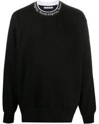Acne Studios Black Logo Rib Sweatshirt