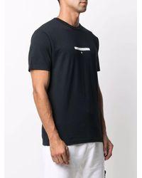 Stone Island Black T-shirt With Micro Graphics One Print