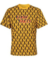 Paco Rabanne Yellow T-shirt With Ciao Paco Print