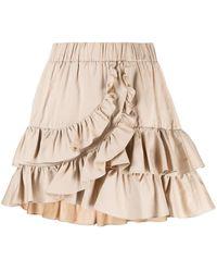 FEDERICA TOSI Ruffled-trim Skirt - Natural