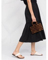 FEDERICA TOSI Off-shoulder Tiered Dress - Black