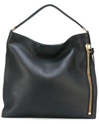 Tom Ford Black Grain Leather Alix Hobo Bag