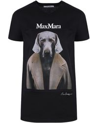 Max Mara Black Dogstar Cotton T-shirt