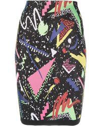 Balmain Abstract-print Skirt - Black